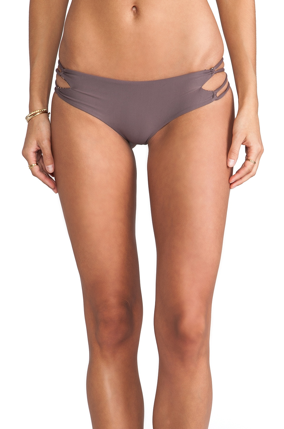 Acacia Swimwear Kauai Bikini Bottom in Fig