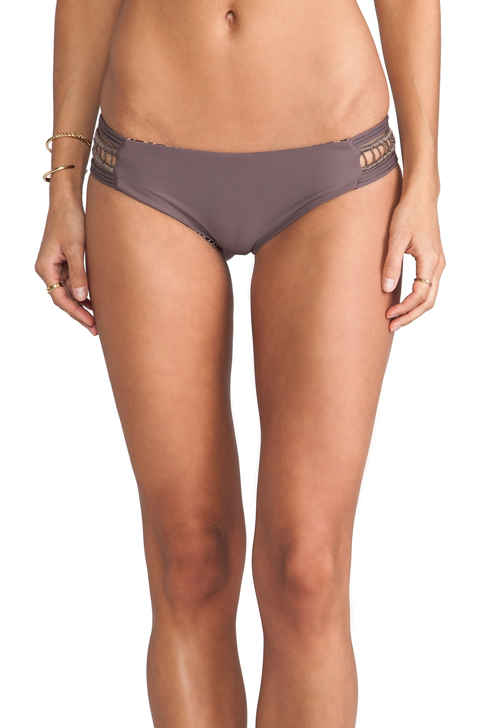 Acacia Swimwear Pikake Bikini Bottom in Fig