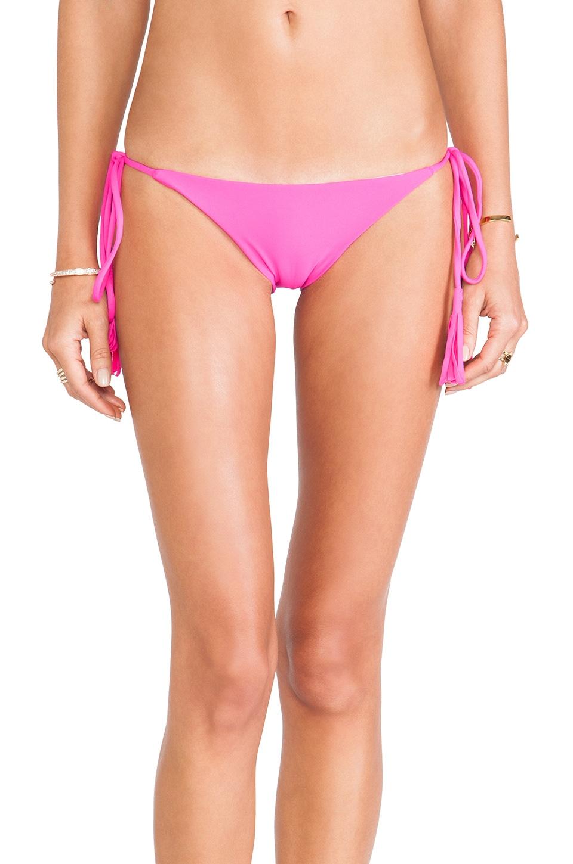 Acacia Swimwear Namotu Bikini Bottom in Guava Pop