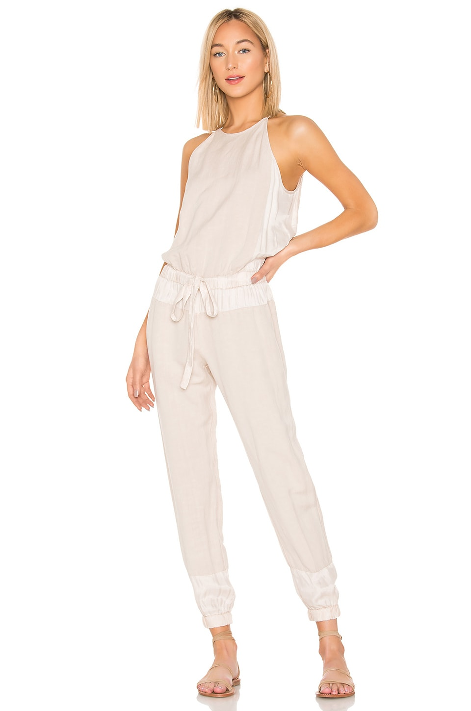 YFB CLOTHING Diego Jumpsuit en Pink Tint