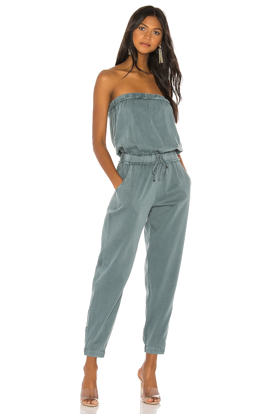 YFB CLOTHING Reeve Jumpsuit in Teal
