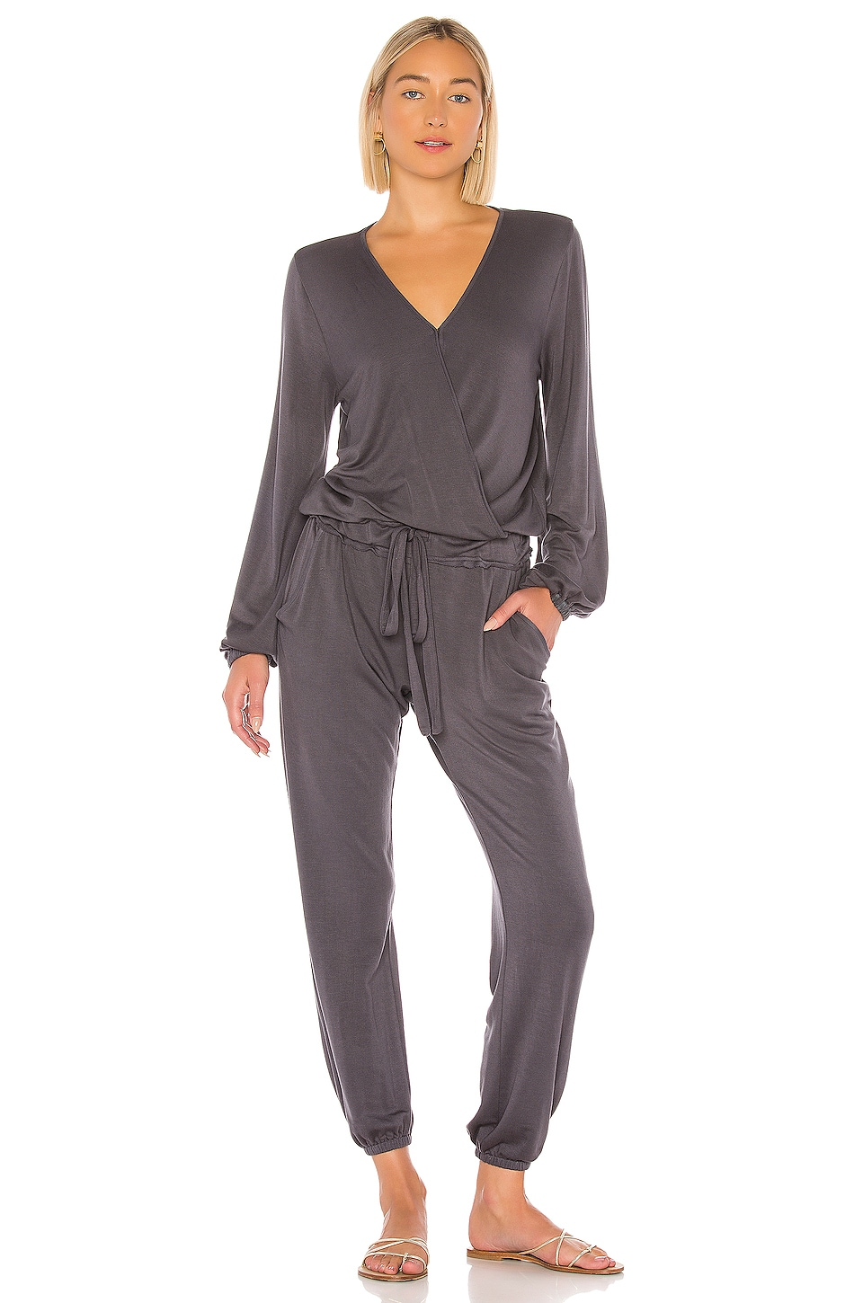 YFB CLOTHING Foiley Jumpsuit in Steel