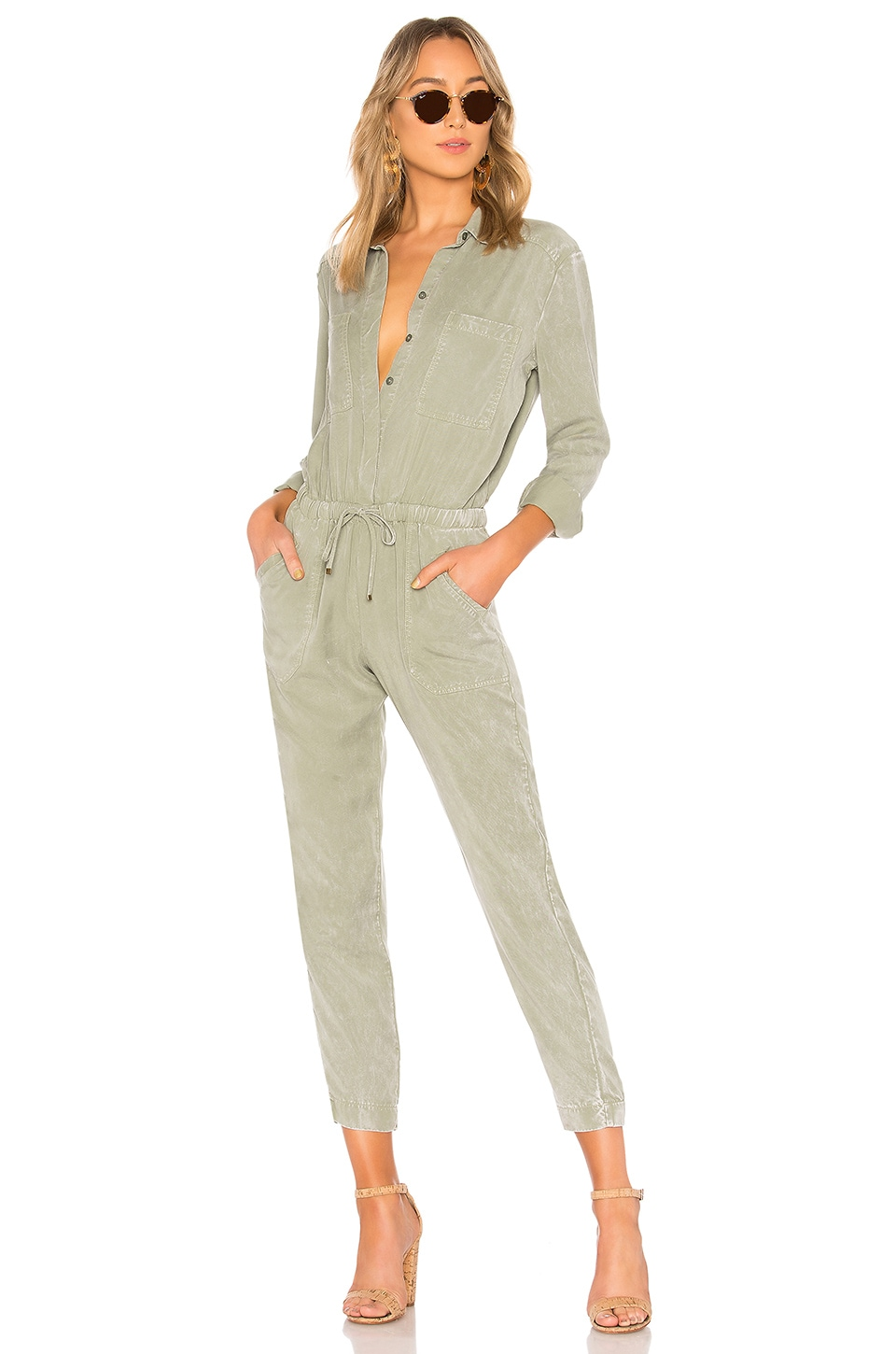 YFB CLOTHING Everest Jumpsuit in Sage AW