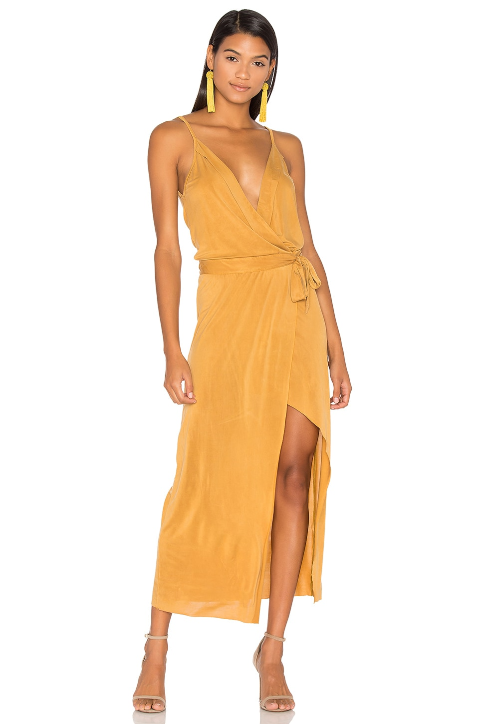YFB CLOTHING Bessie Dress in Mustard
