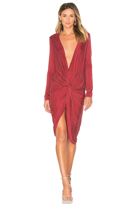 YFB CLOTHING Adele Dress in Wine