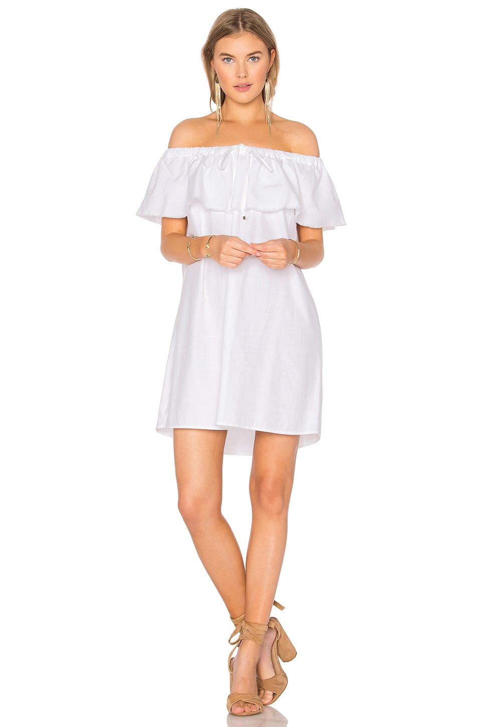 YFB CLOTHING Penelope Dress in White