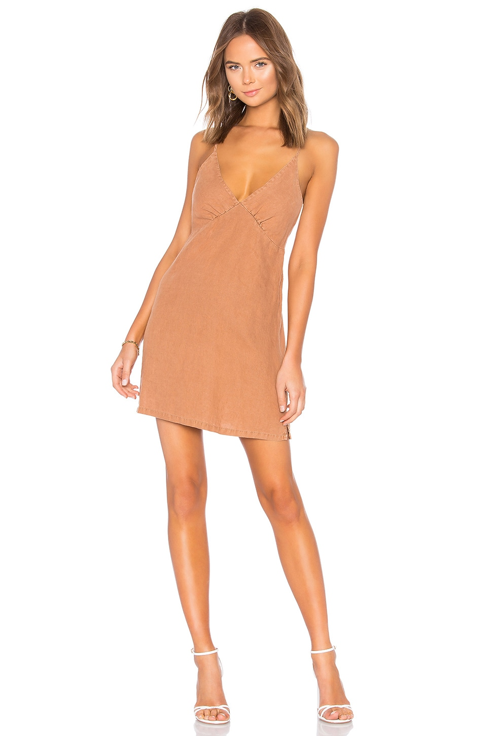 YFB CLOTHING Lexington Dress in Honey Nut