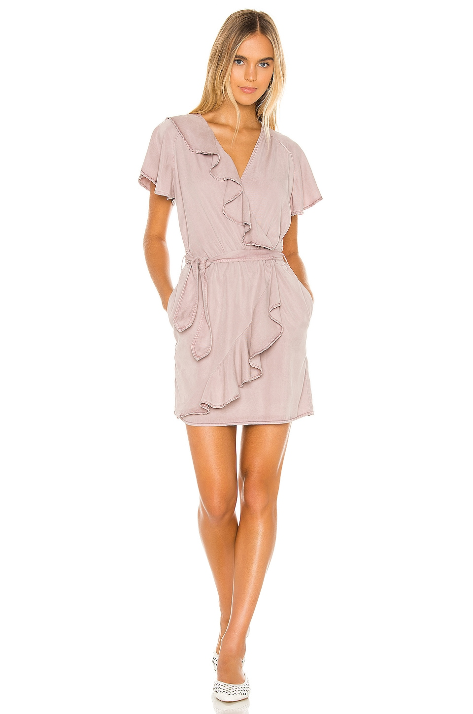 YFB CLOTHING Monika Dress in Pale Mauve