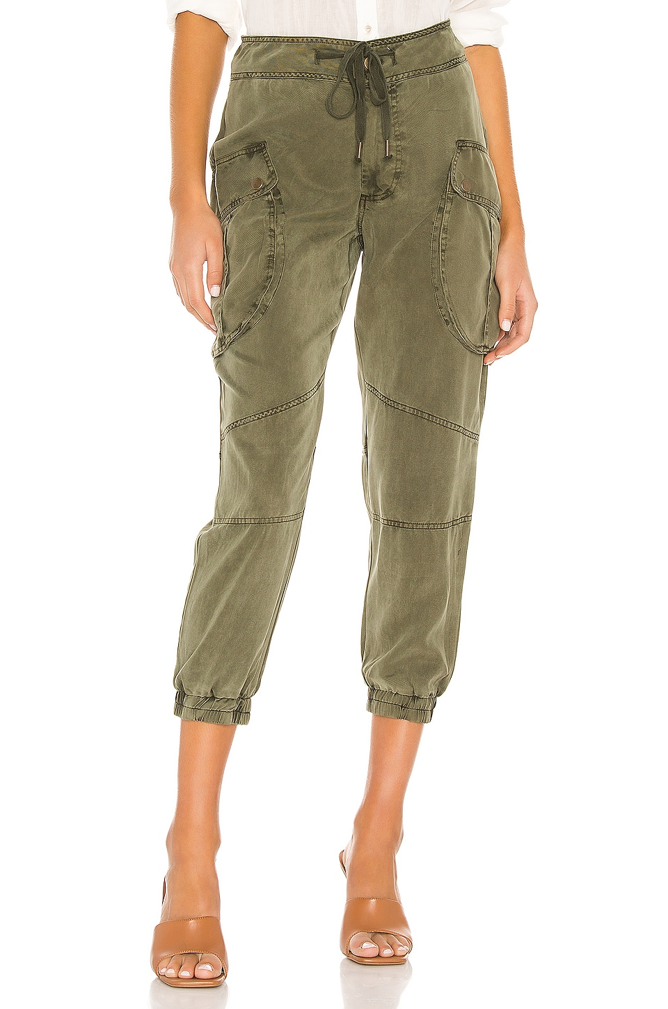 YFB CLOTHING Clyde Cargo Pant in Pine Pigment