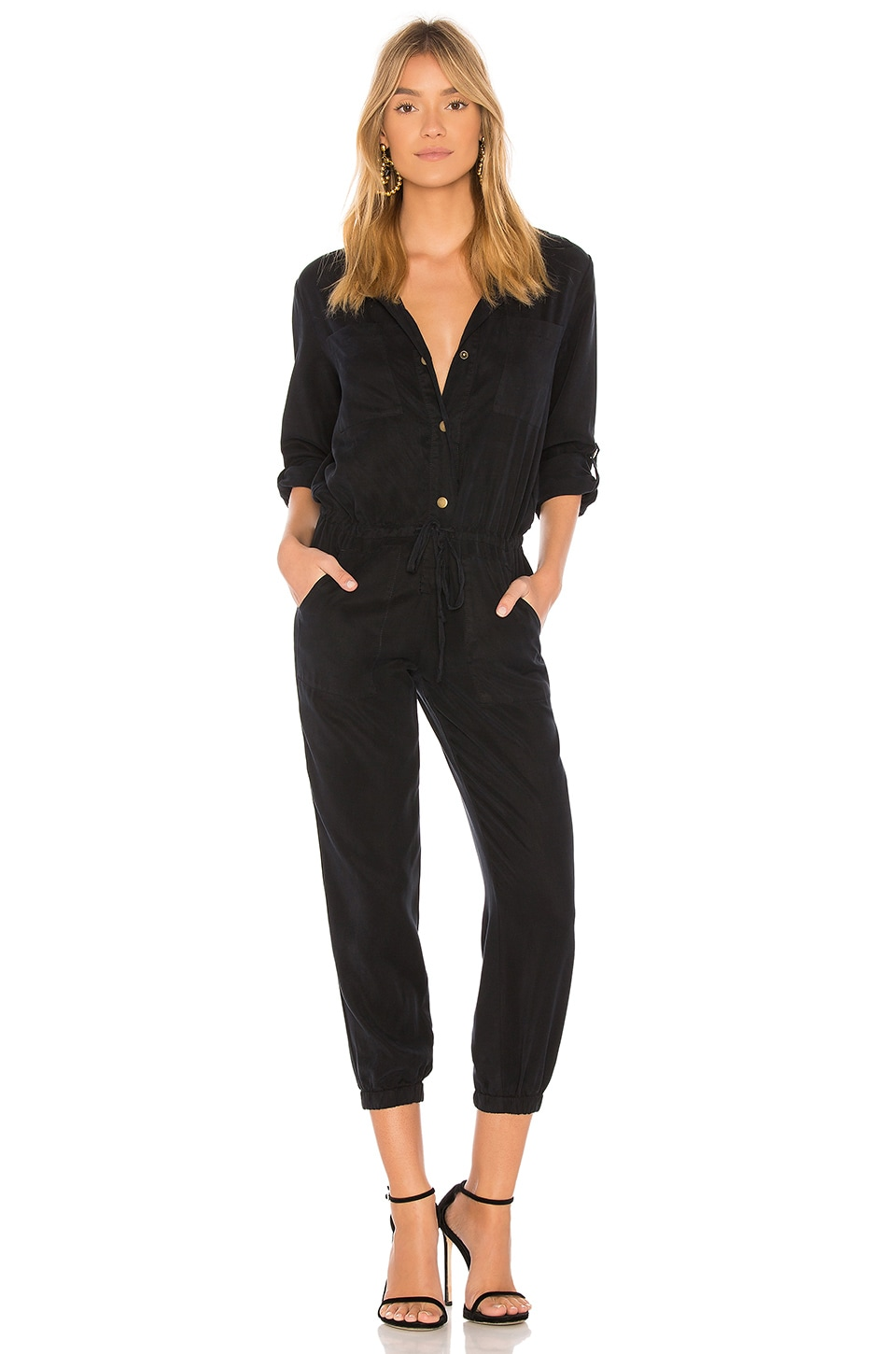 YFB CLOTHING Lane Jumpsuit in Navy