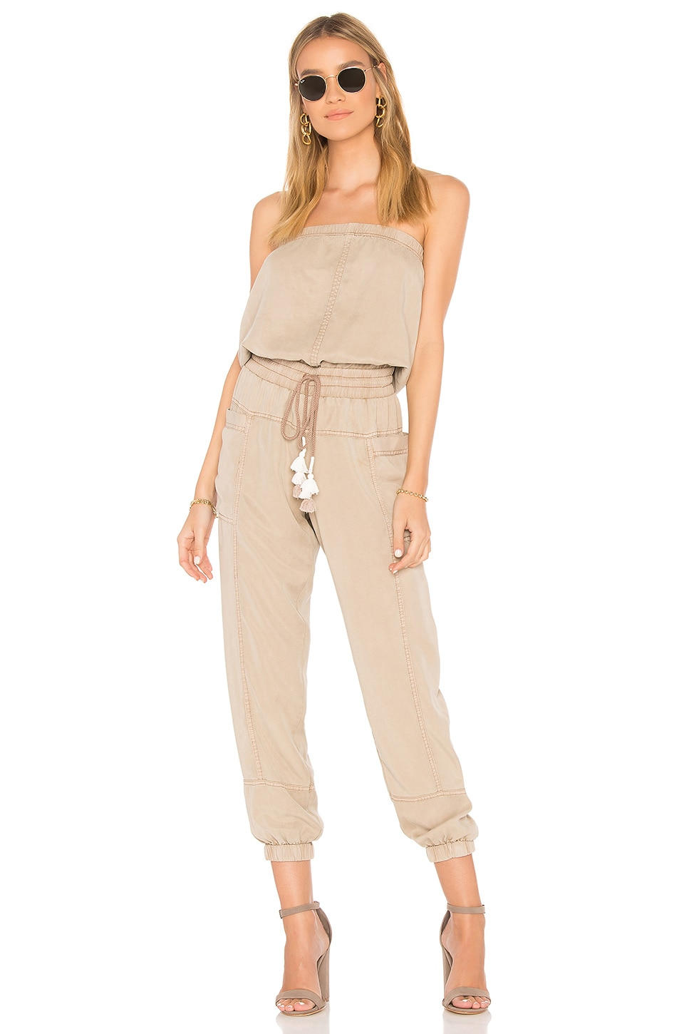 YFB CLOTHING Luke Jumpsuit in Natural