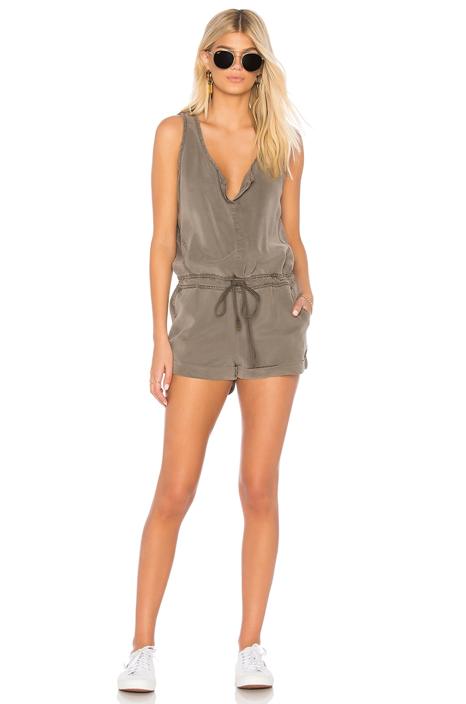 YFB CLOTHING Cliff Romper in Clay