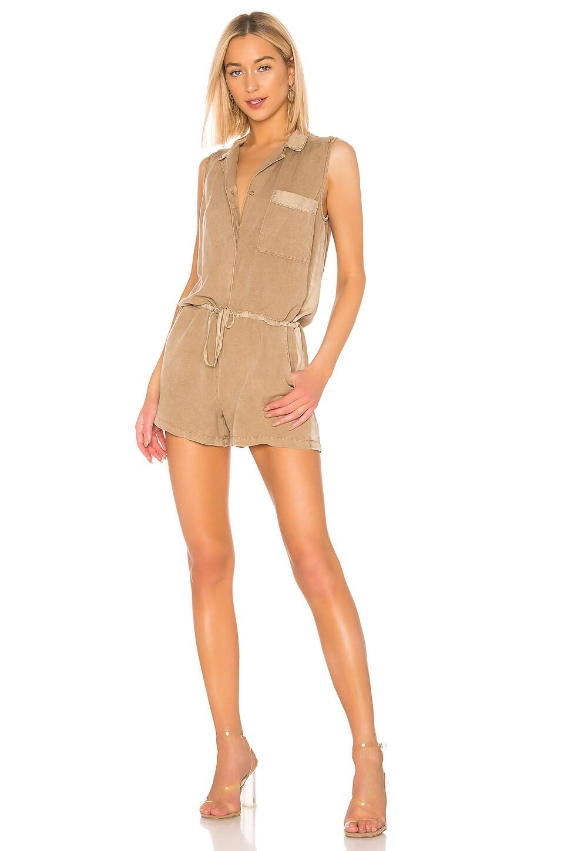 YFB CLOTHING Lorren Romper in Khaki