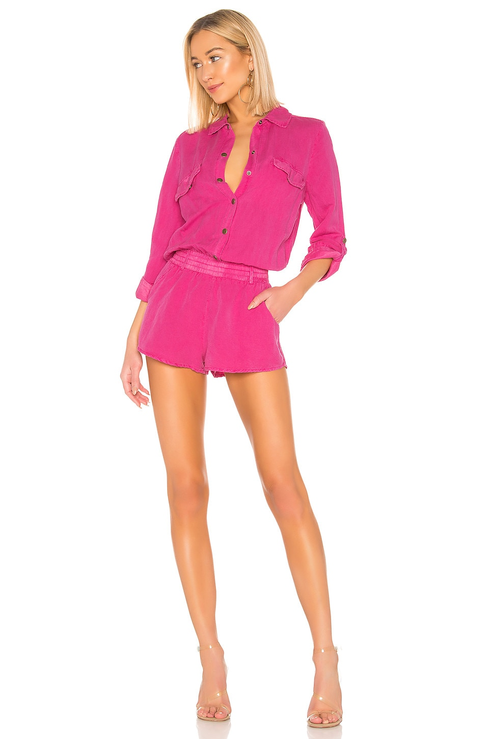 YFB CLOTHING X REVOLVE Noah Romper in Hot Pink