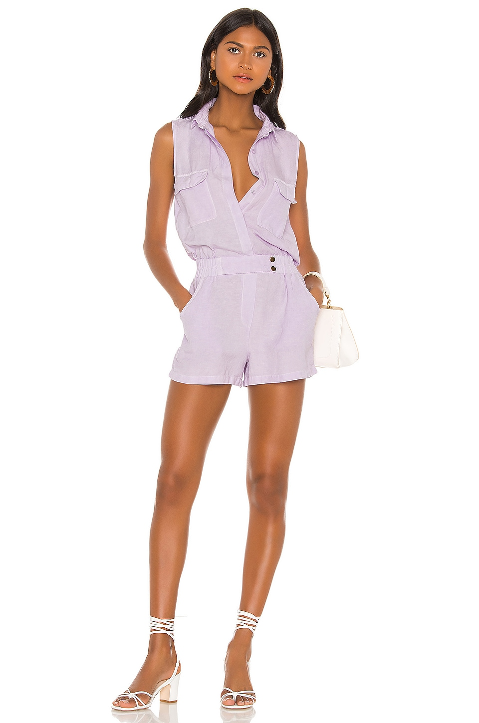 YFB CLOTHING X REVOLVE Christine Romper in Dark Lilac