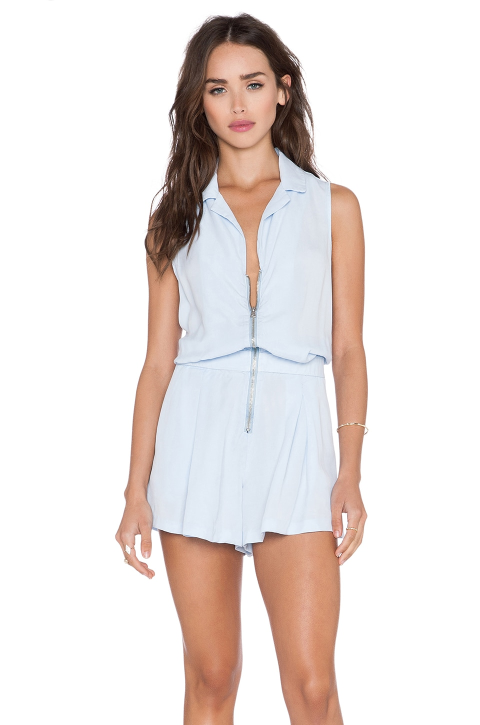YFB CLOTHING Dawson Romper in Sky Blue