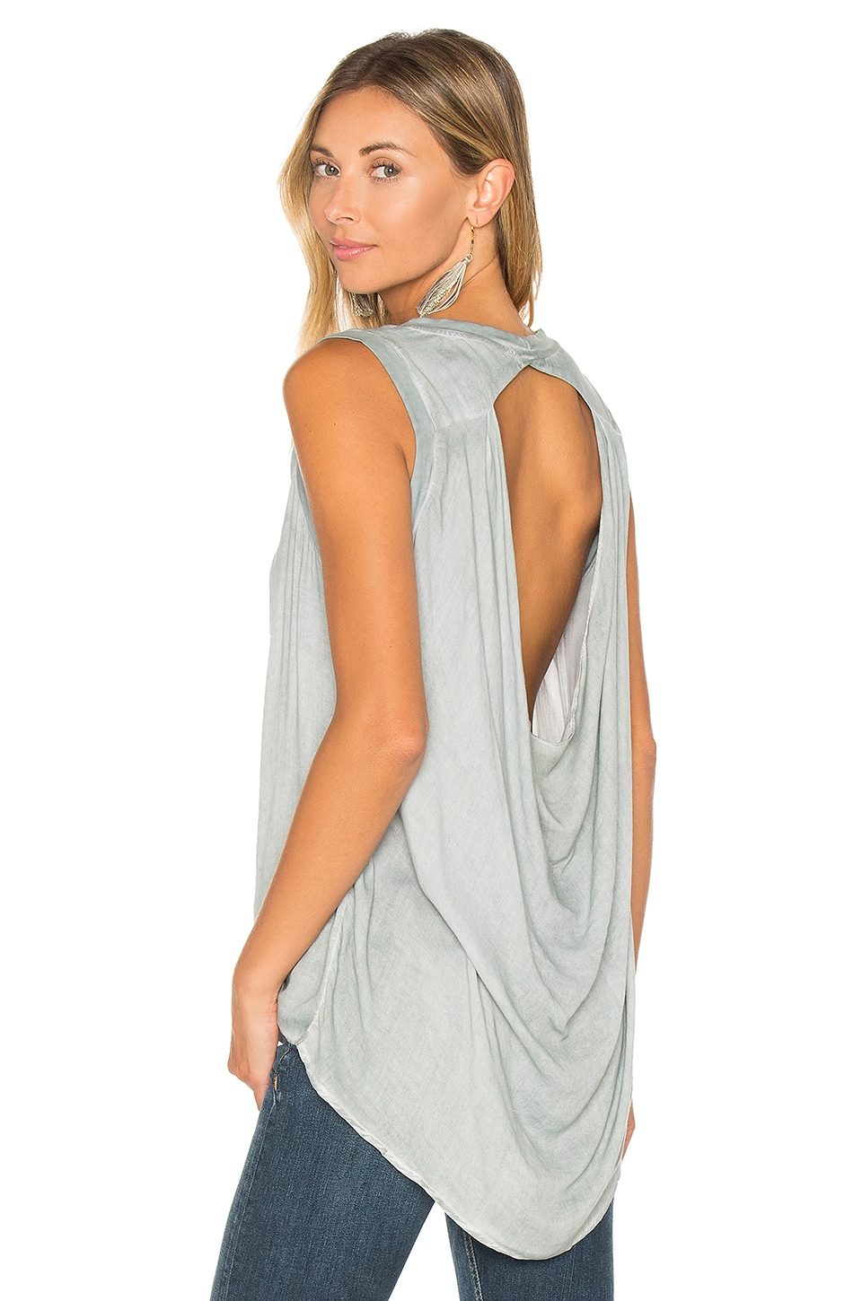 YFB CLOTHING Mash Tank in Dusty Blue