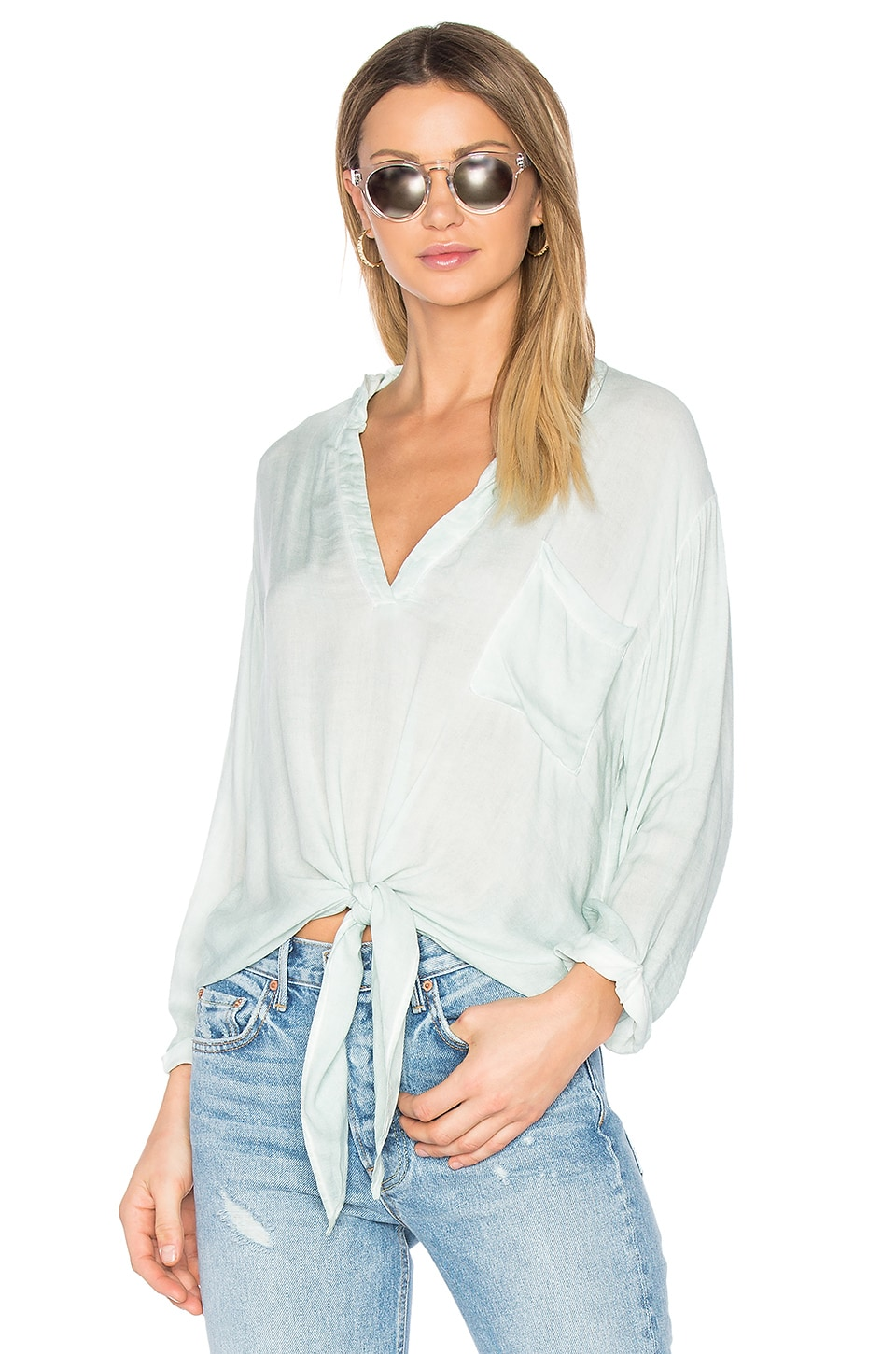 YFB CLOTHING Ellis Top in Seafoam
