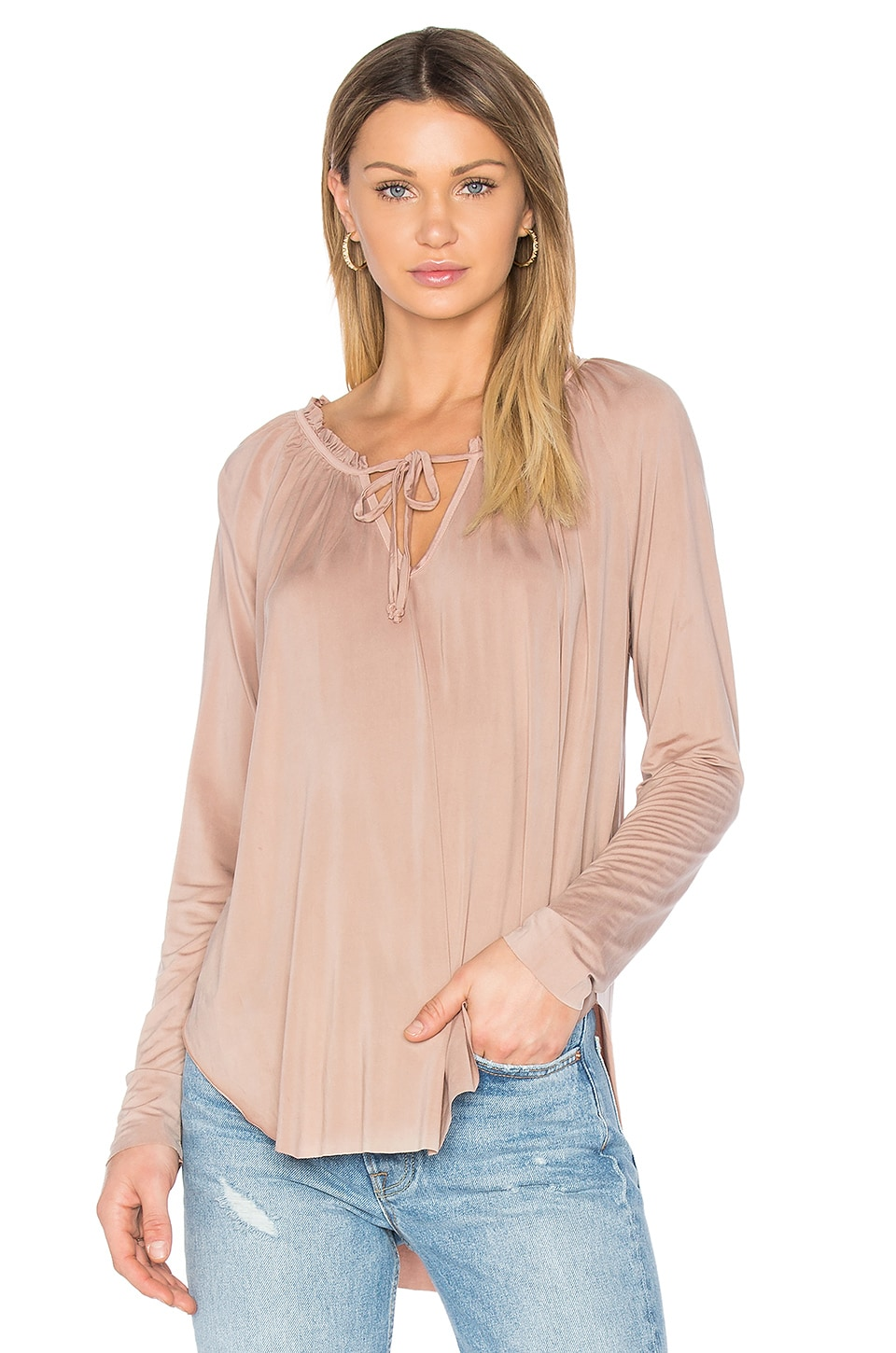 YFB CLOTHING Annette Top in Toffee