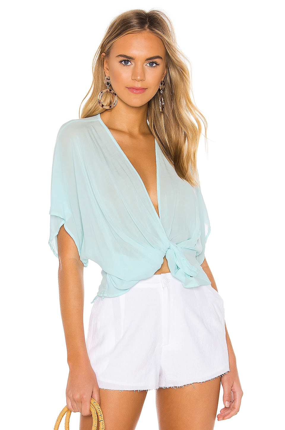 YFB CLOTHING Corrine Top in Crystal