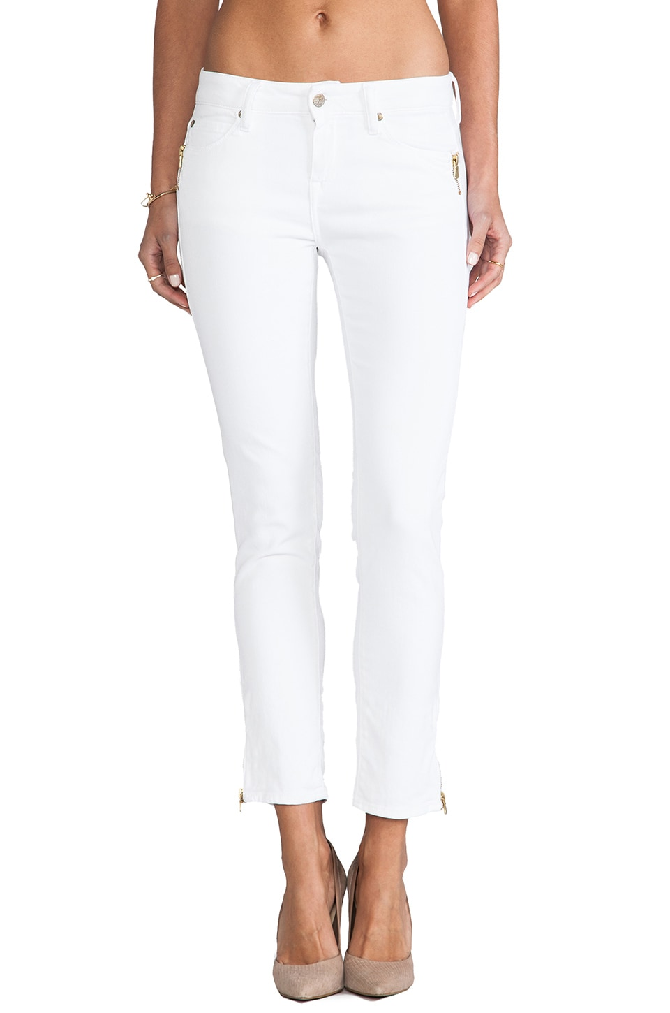 Acquaverde Evans Crop Skinny in White