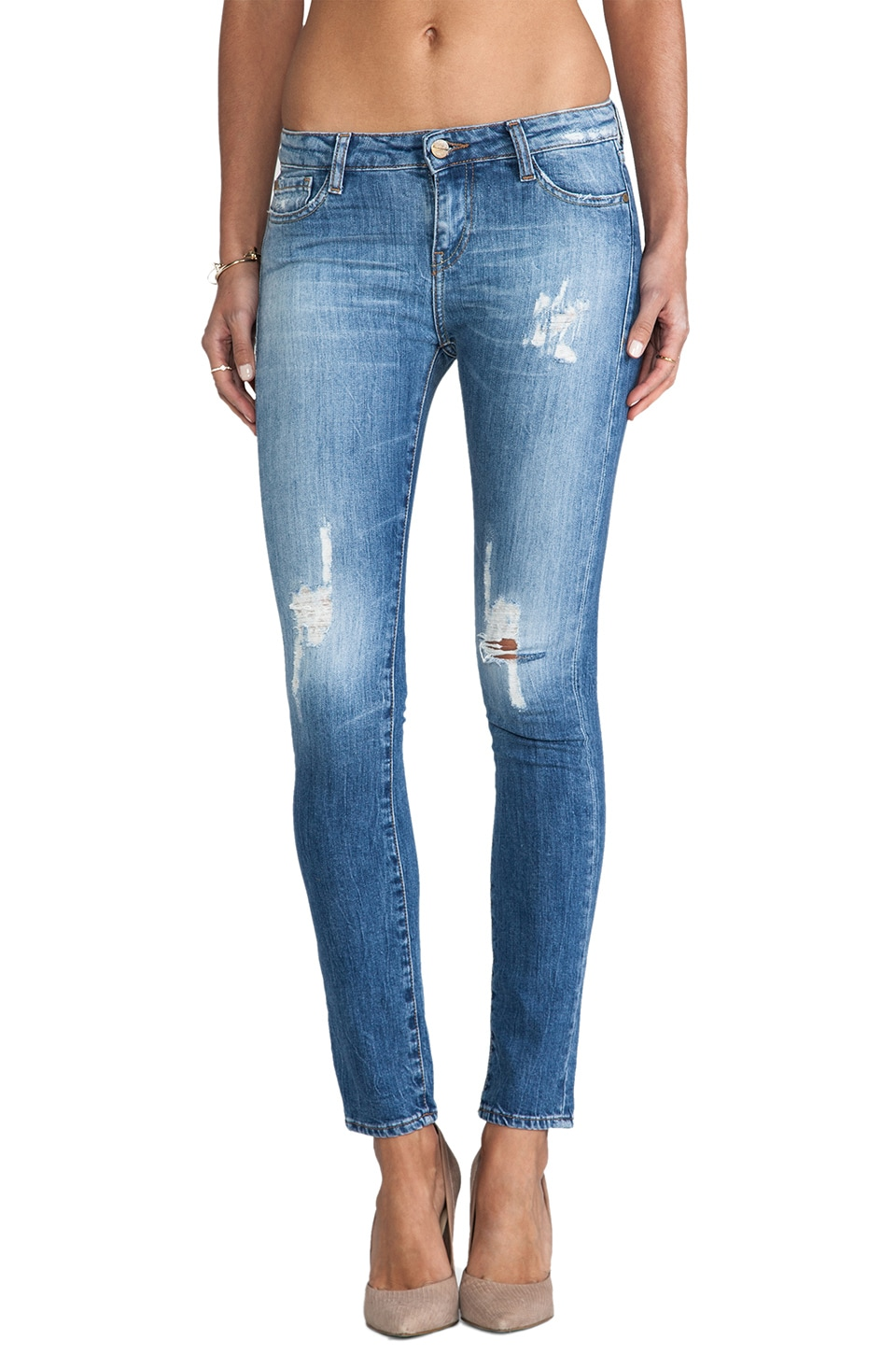 Acquaverde Scarlett Crop Skinny in Destroy New Legend