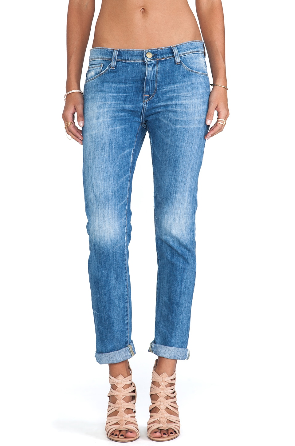 Acquaverde Gisele Boyfriend Jean in Distressed New Legend