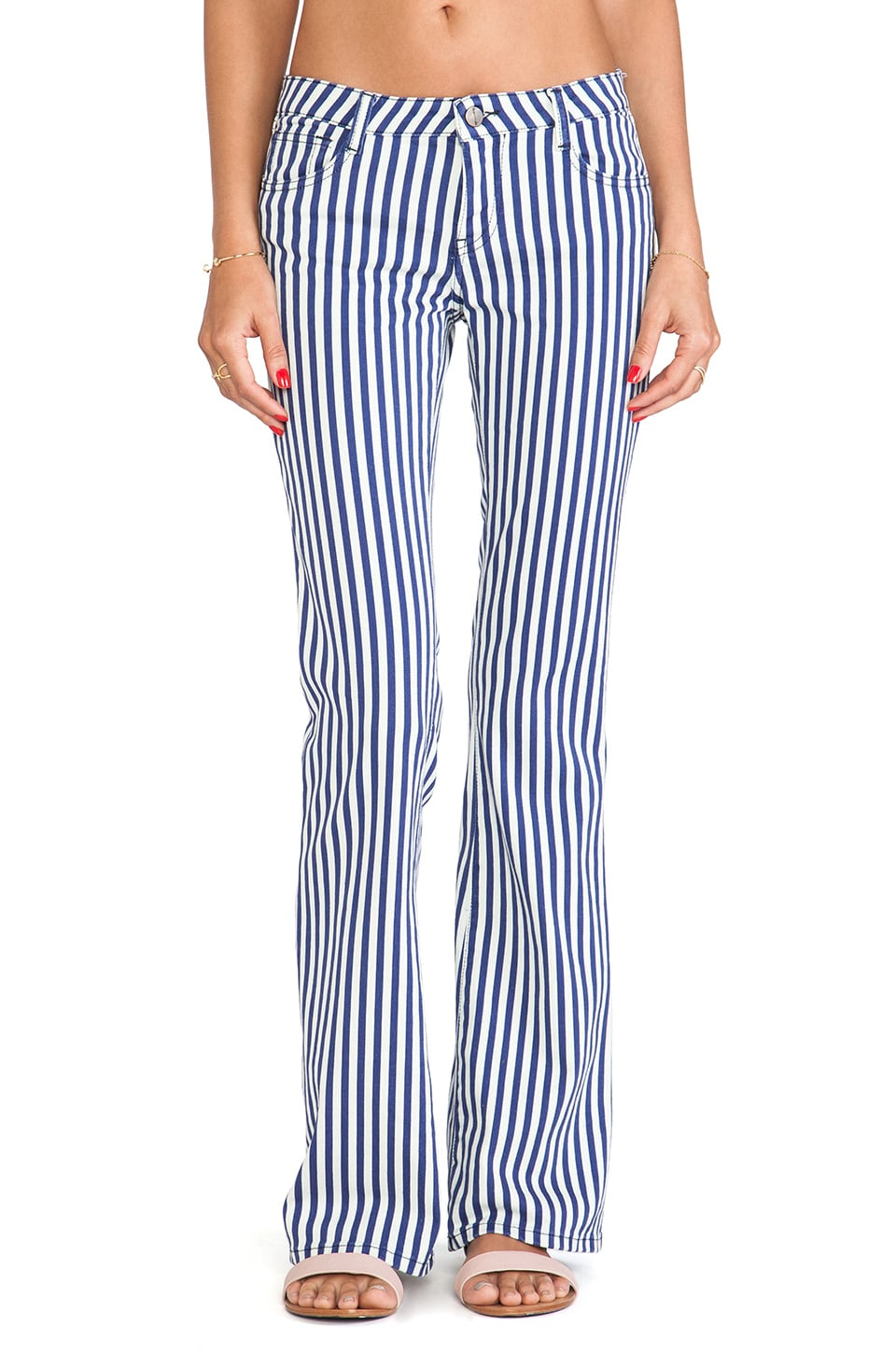 Acquaverde Beth Wideleg in Indigo Stripe