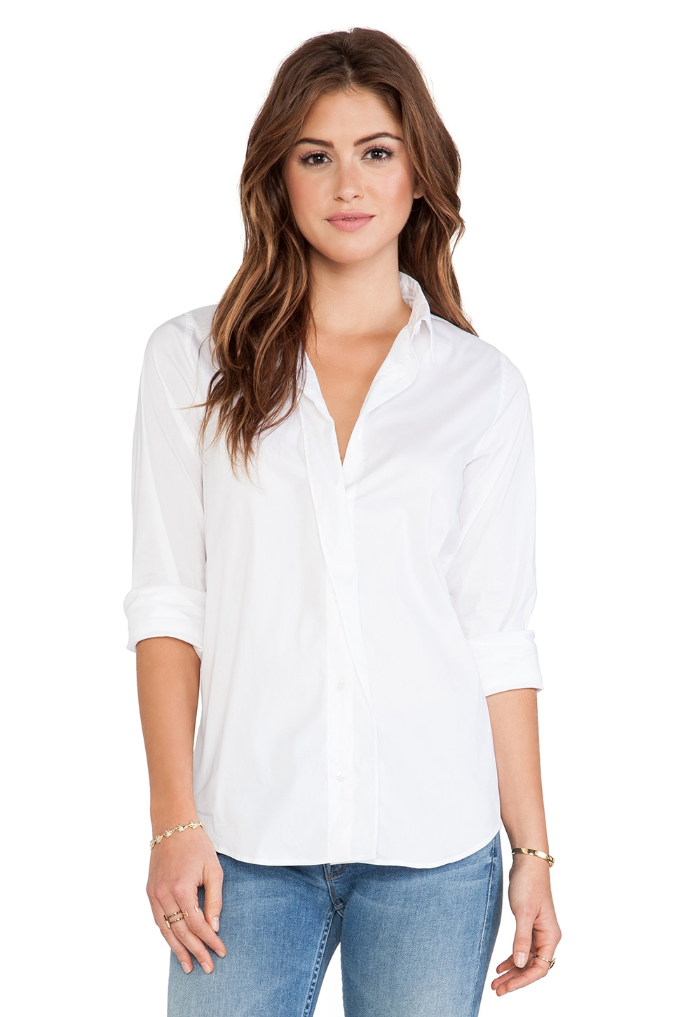 Acquaverde Jill Blouse in White