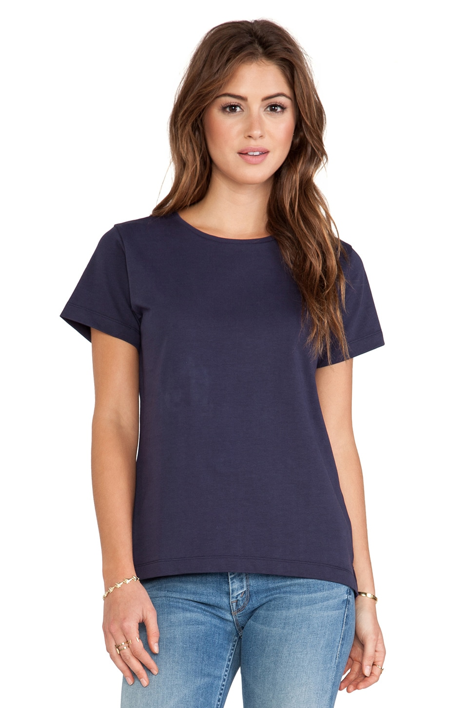 Acquaverde Basic Tee in Indigo
