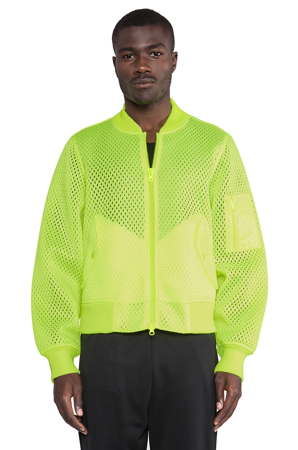 adidas Originals by Jeremy Scott Puff Bomber in Green