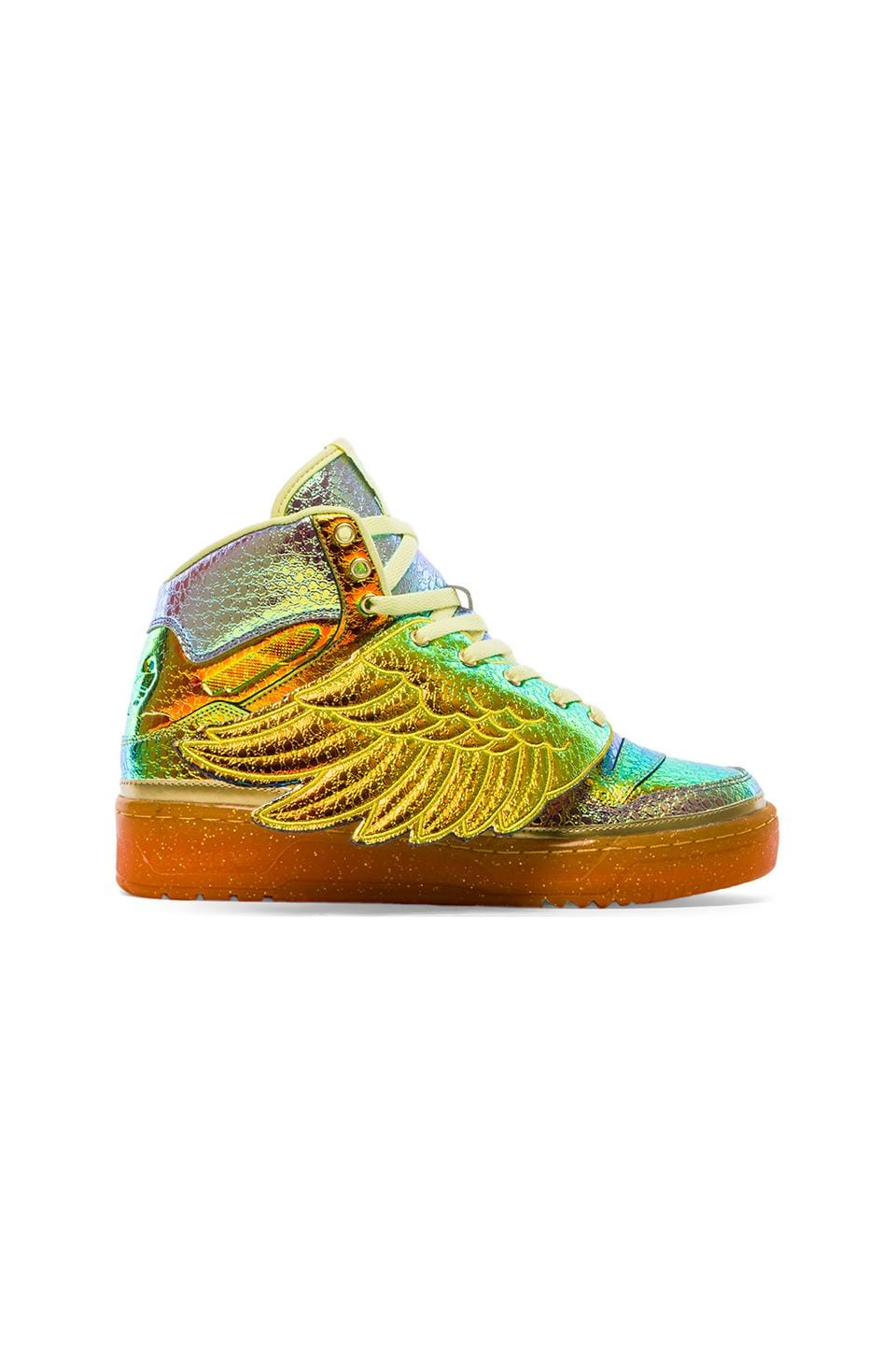 adidas Originals by Jeremy Scott Foil Wing in Metallic Gold & Foil