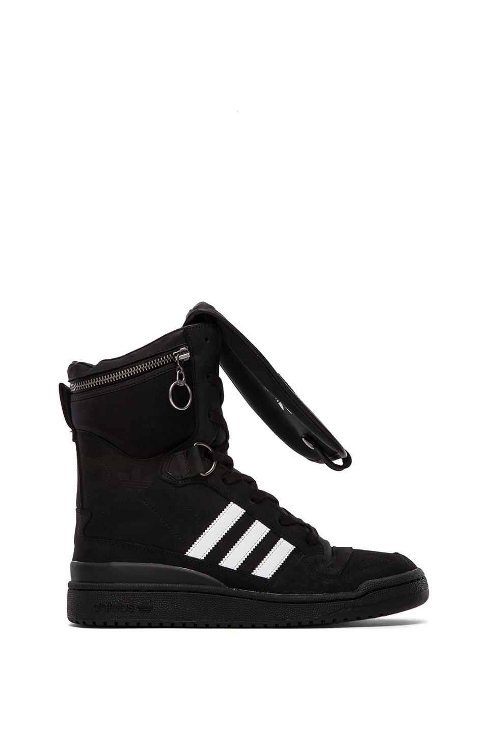 adidas Originals by Jeremy Scott Tall Boy in Black & White