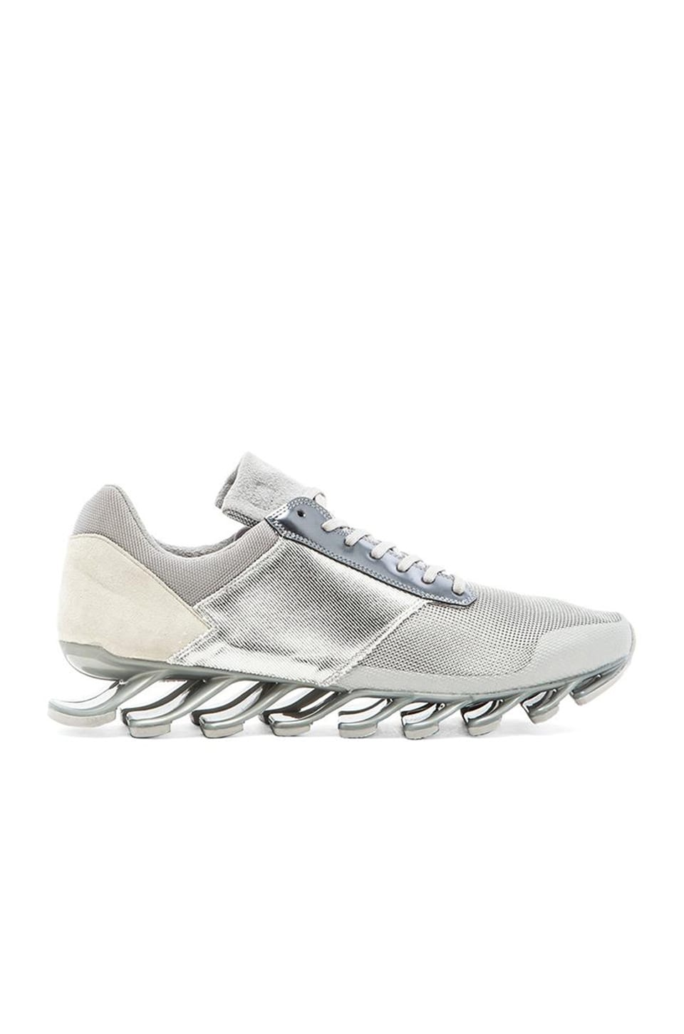 save off 3b3f7 8e9f2 adidas by Rick Owens Springblade Low in Silver Met Silver ...