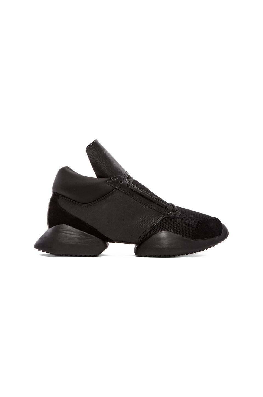 adidas by Rick Owens Runner in Black & Black & Black