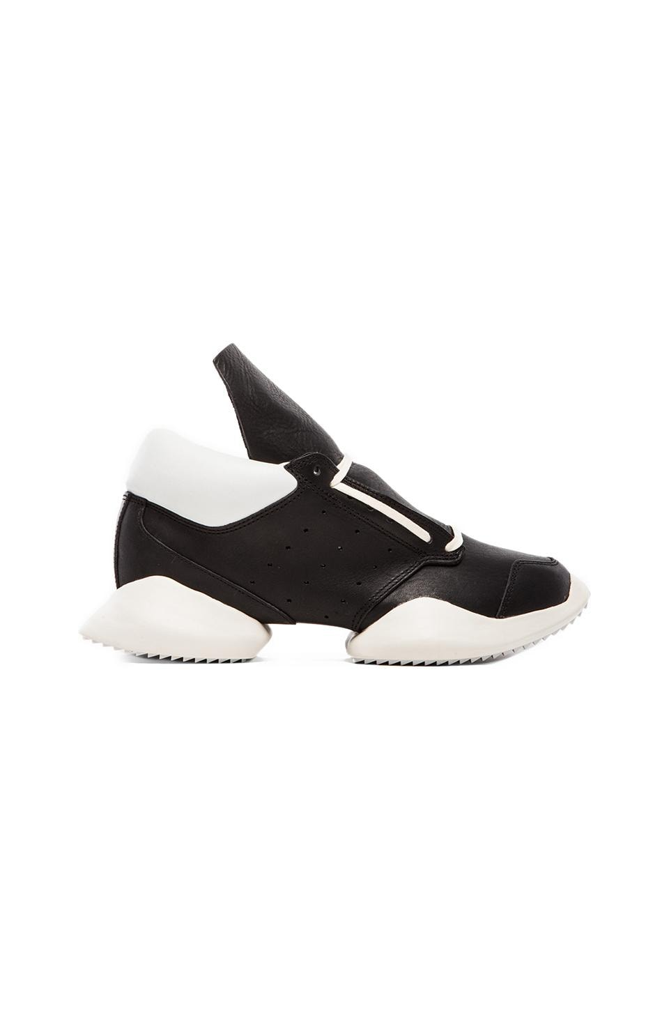 adidas by Rick Owens Runner in Black & White & Bone