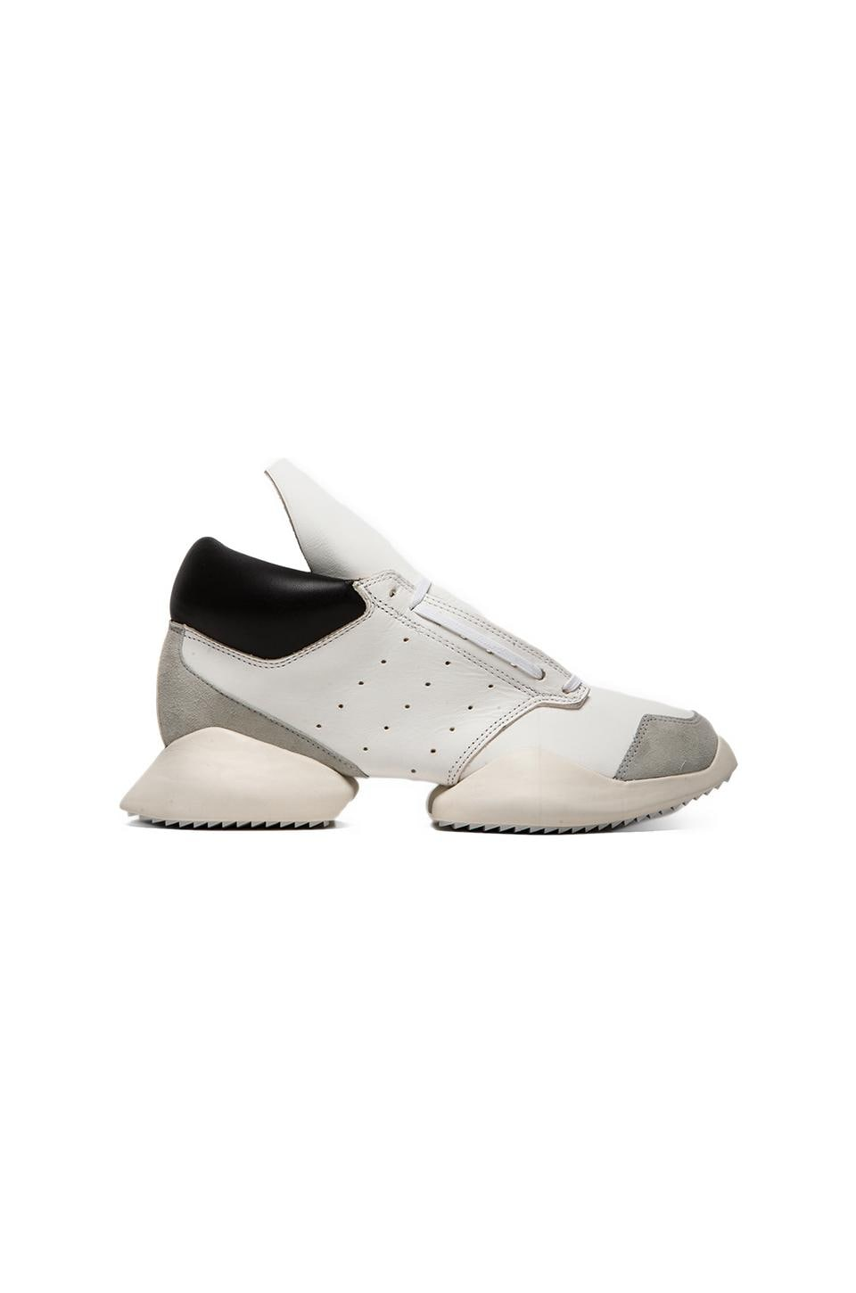 adidas by Rick Owens Runner in White & Black & Bone