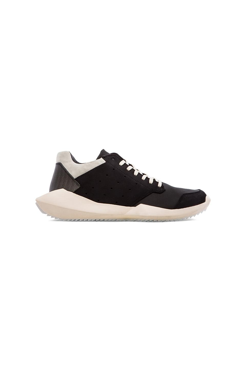 adidas by Rick Owens Tech Runner in Black & White & Light Bone