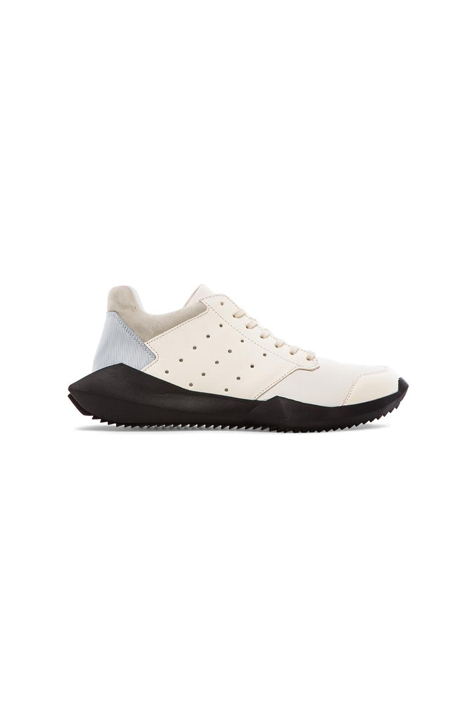 adidas by Rick Owens Tech Runner in White & Black