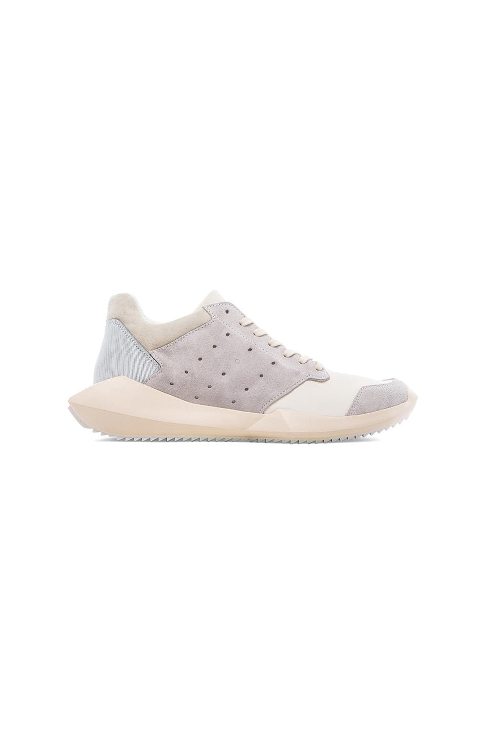 adidas by Rick Owens Tech Runner in White &  Chalk &  Light Bone