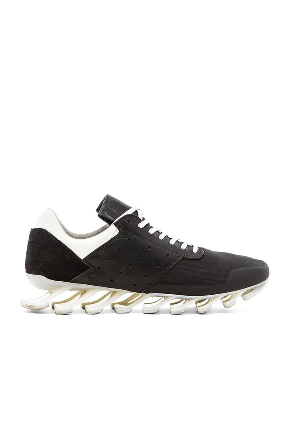 sale retailer e58db f8f63 adidas by Rick Owens Springblade Low in Black Black White ...