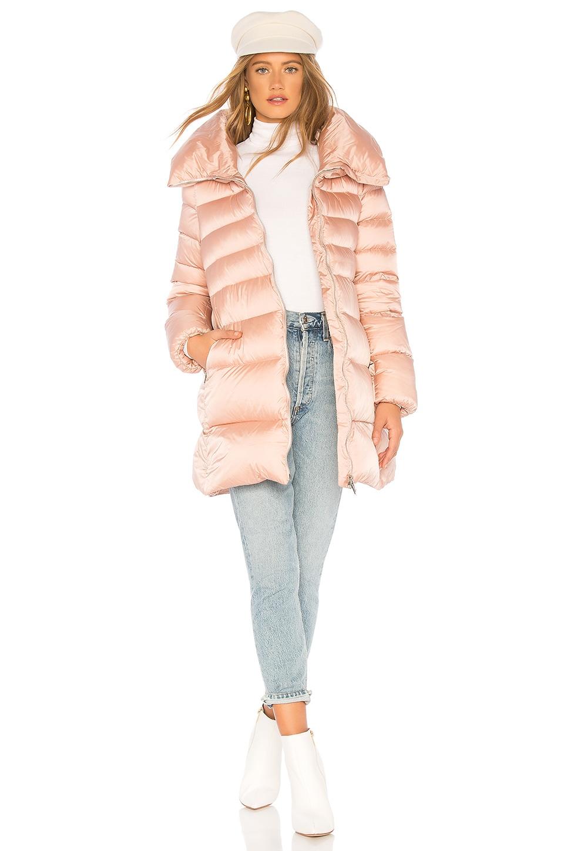 ADD Hooded Short Down Coat in Misty Rose