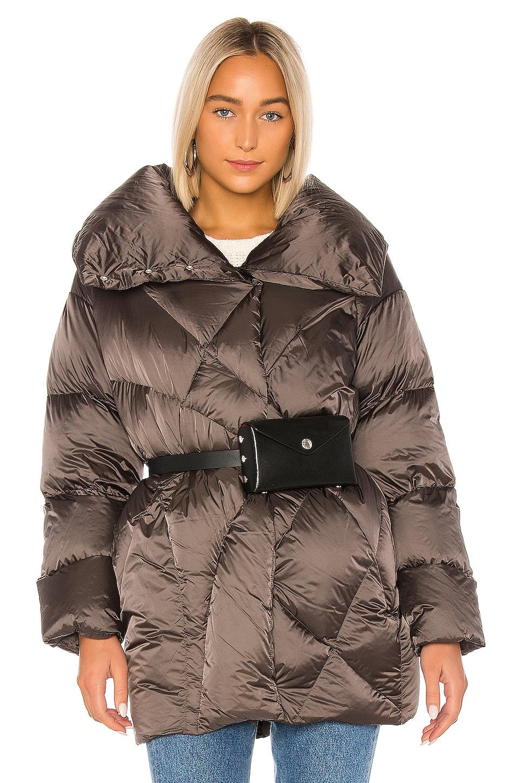 ADD Down Short Coat in Metal Grey