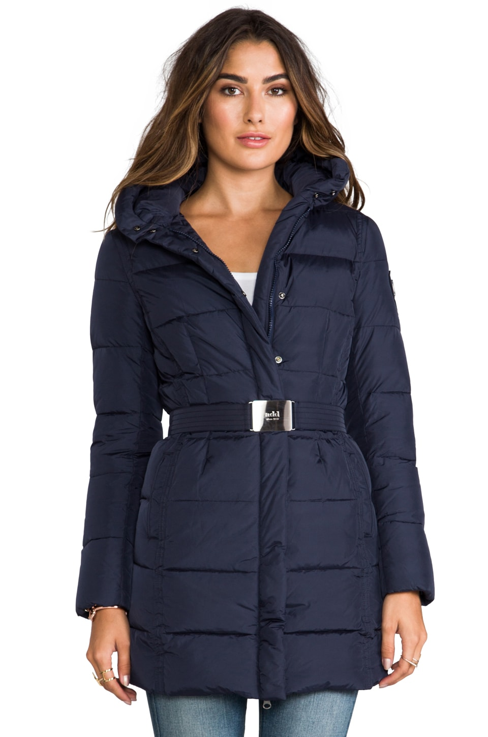 ADD Down Coat in Deep Blue