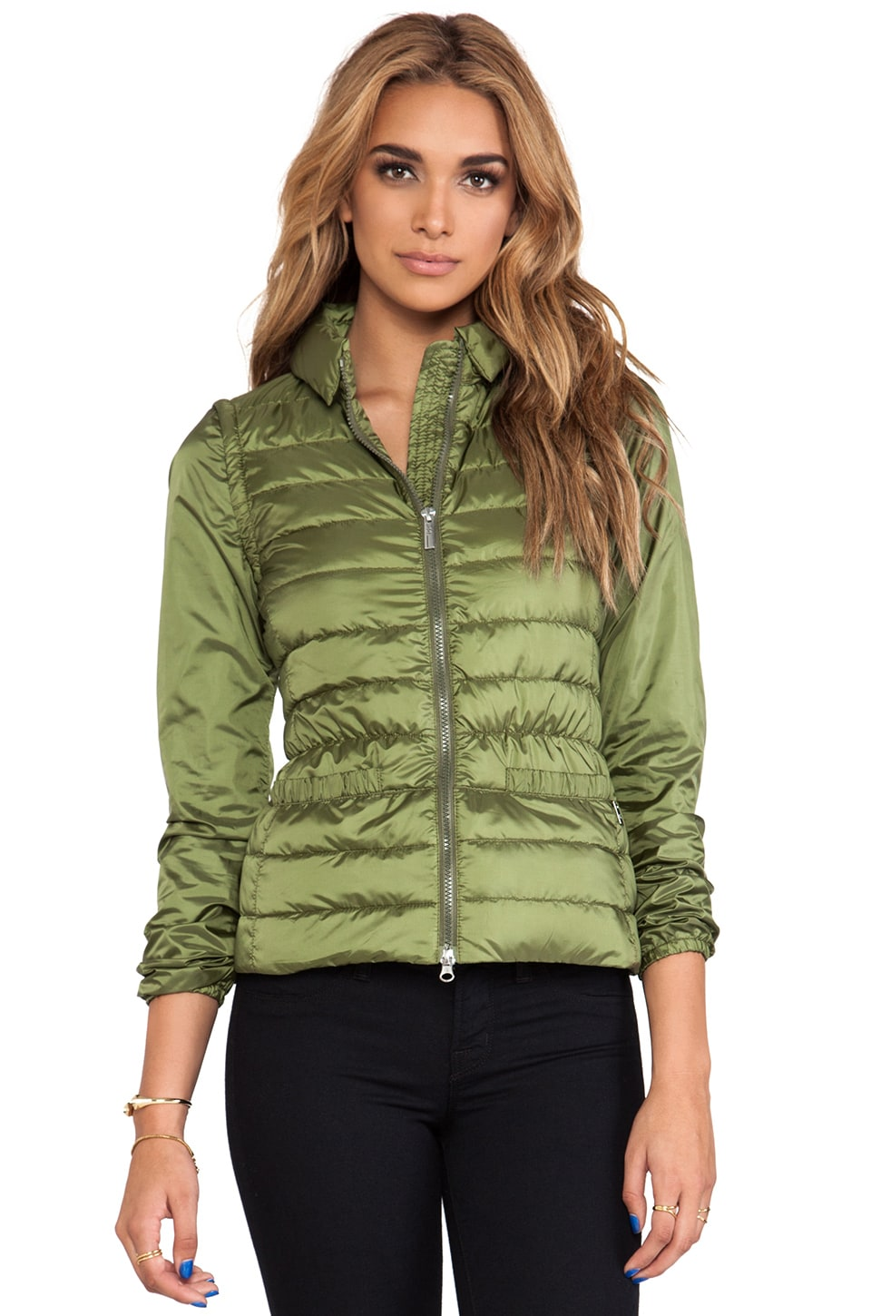ADD Down Detachable Jacket in Dusky Green