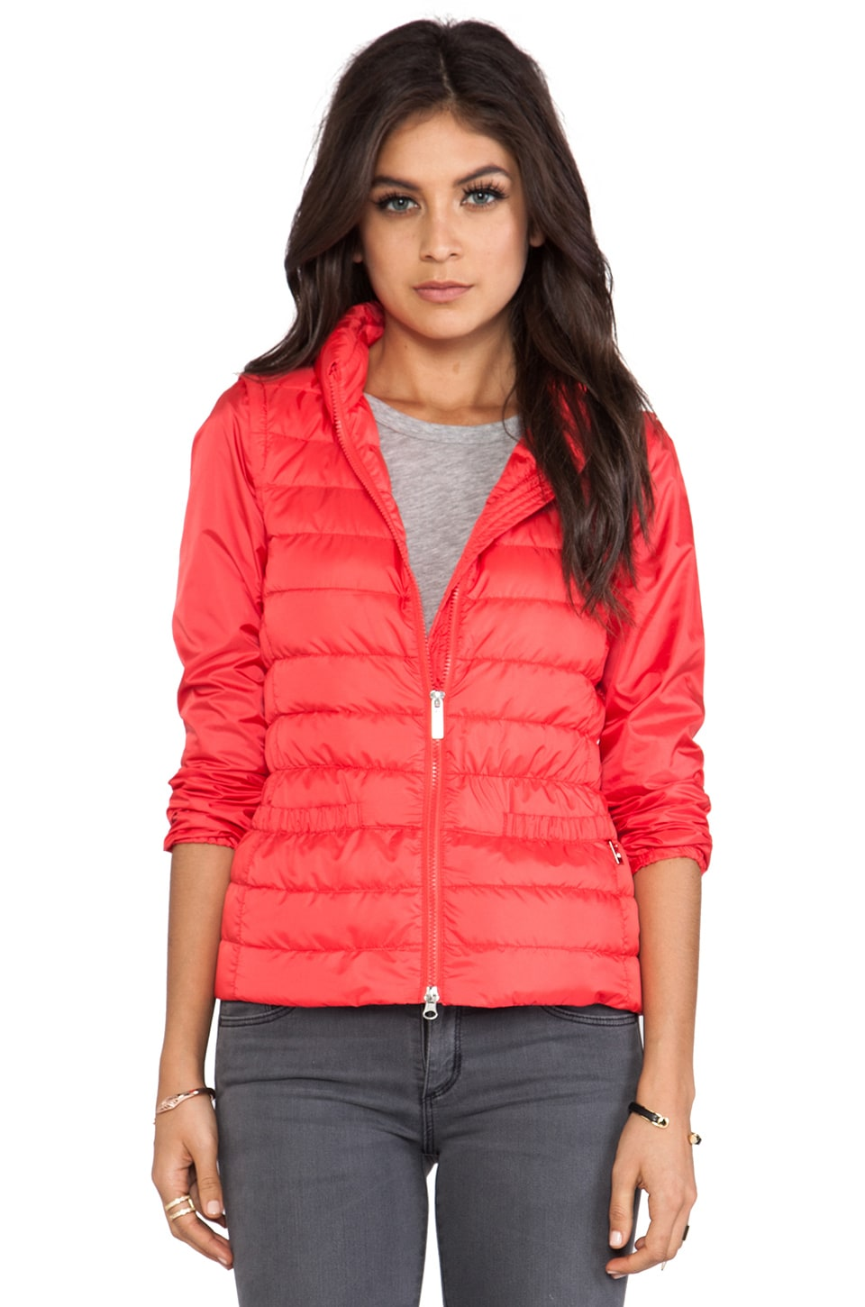 ADD Down Detachable Jacket in Poppy Red
