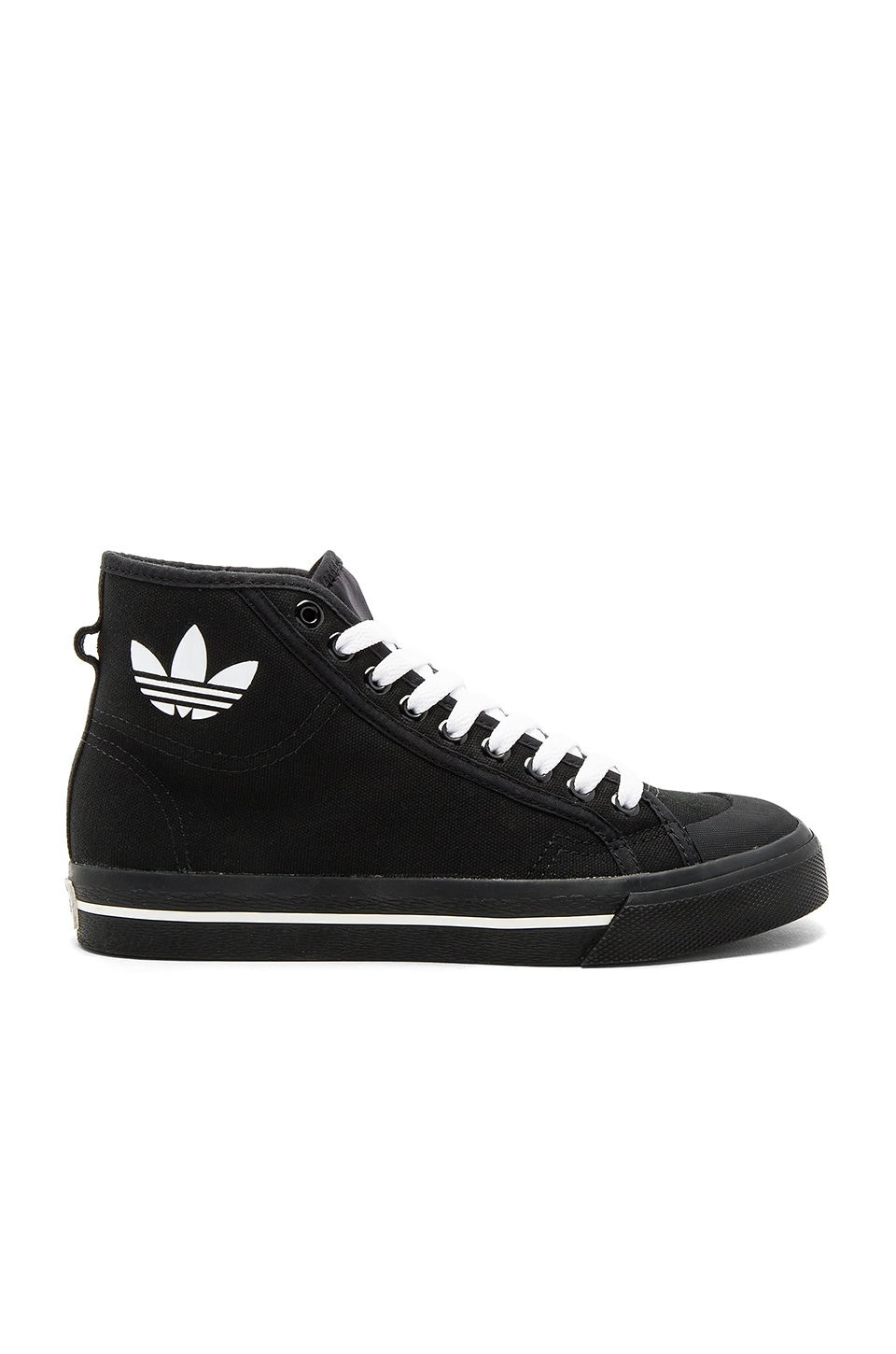 adidas by Raf Simons RS Matrix Spirit High Top Sneaker in Black & White
