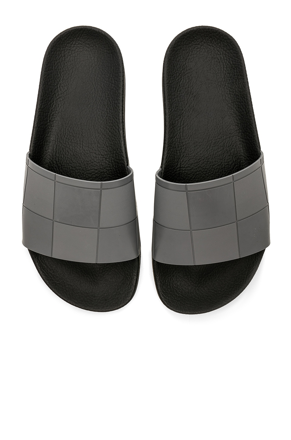 adidas by Raf Simons Adilette Checkerboard Slide in Core Black & Granite