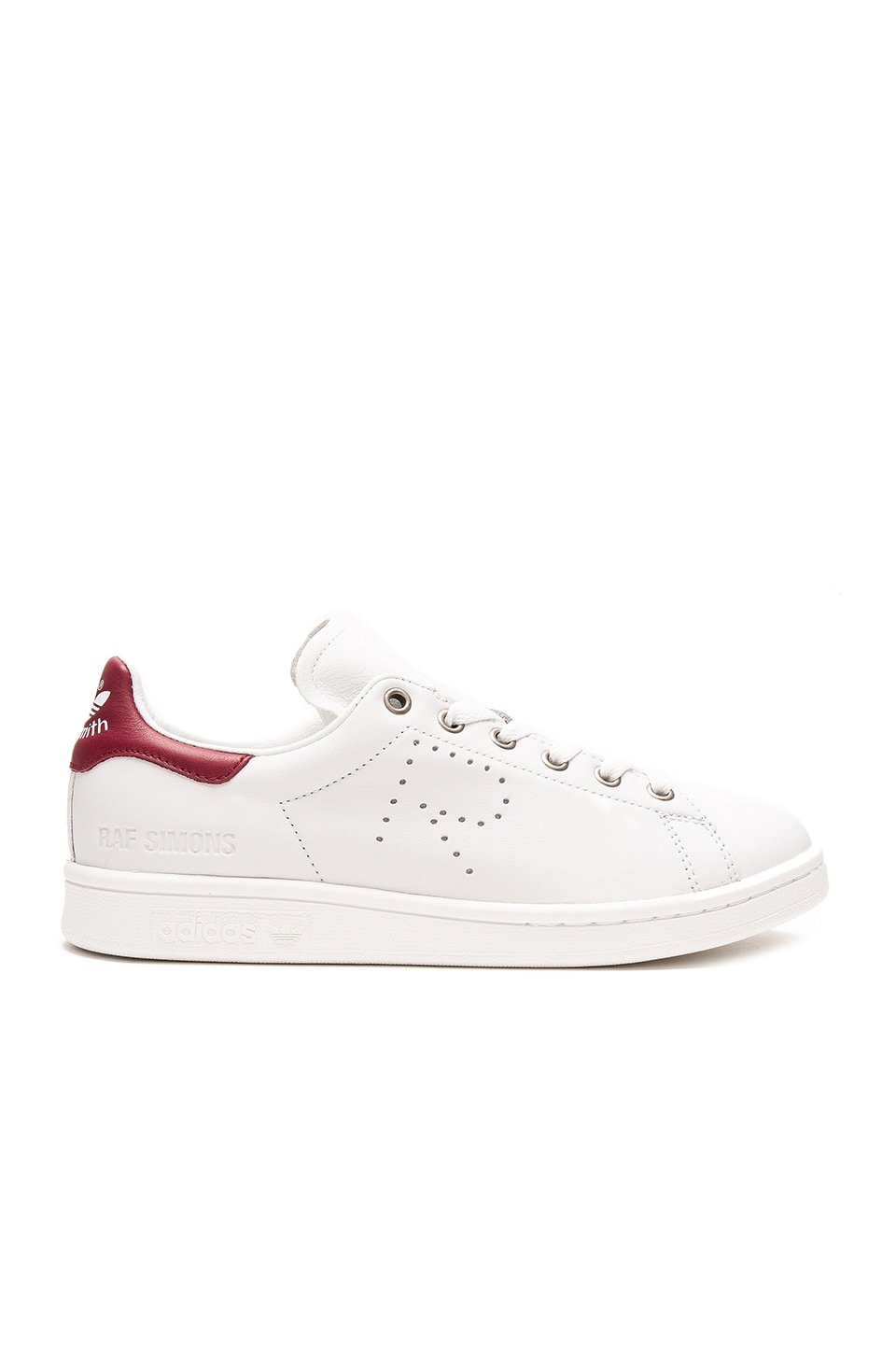 adidas by Raf Simons Stan Smith Sneaker in Vintage White & Collegiate Burgundy