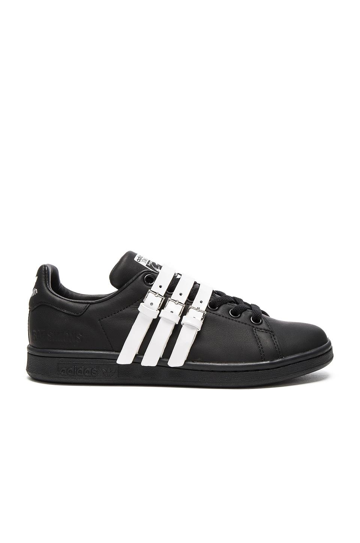adidas by Raf Simons Stan Smith Strap Sneaker in Core Black & Vintage White